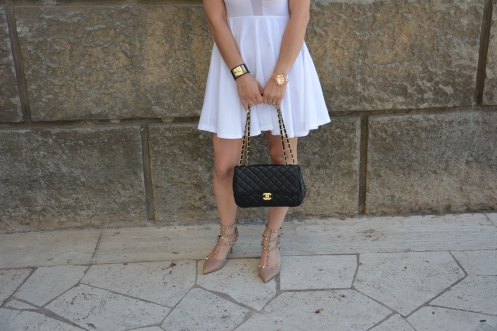 Minusey dress and chanel bag